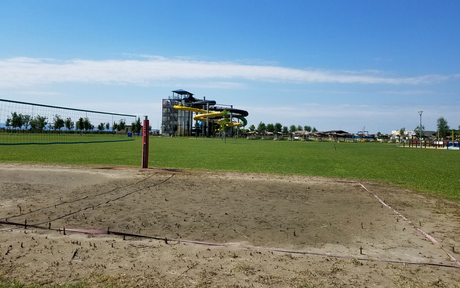 Football field on the sand